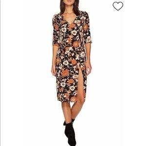 For Love and Lemons Floret Print Midi Dress XS